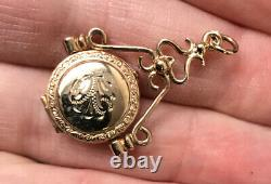 Vintage Gold 9ct Women's Picture Locket Pendant Weight 2.5g Stamped