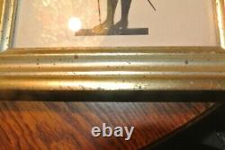 Vintage Pair Borghese Gold/Gilt Framed Silhouette Picture Man & Woman