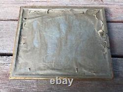 Vtg Art Deco Silk Ribbon Paper Doll Framed Picture Woman On Bench