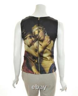 Womens Dolce & Gabbana Silk Printed Top Picture Zip Rare Size IT42 / US6
