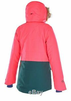 Womens Picture Organic Apply Ski Jacket (neon Coral) Small +burton Sticker